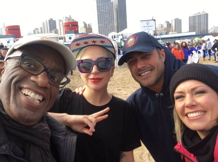 Lady Gaga and Al Roker take Polar Plunge in Chicago