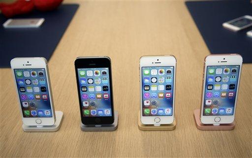 iPhone SE on display. (AP Photo)