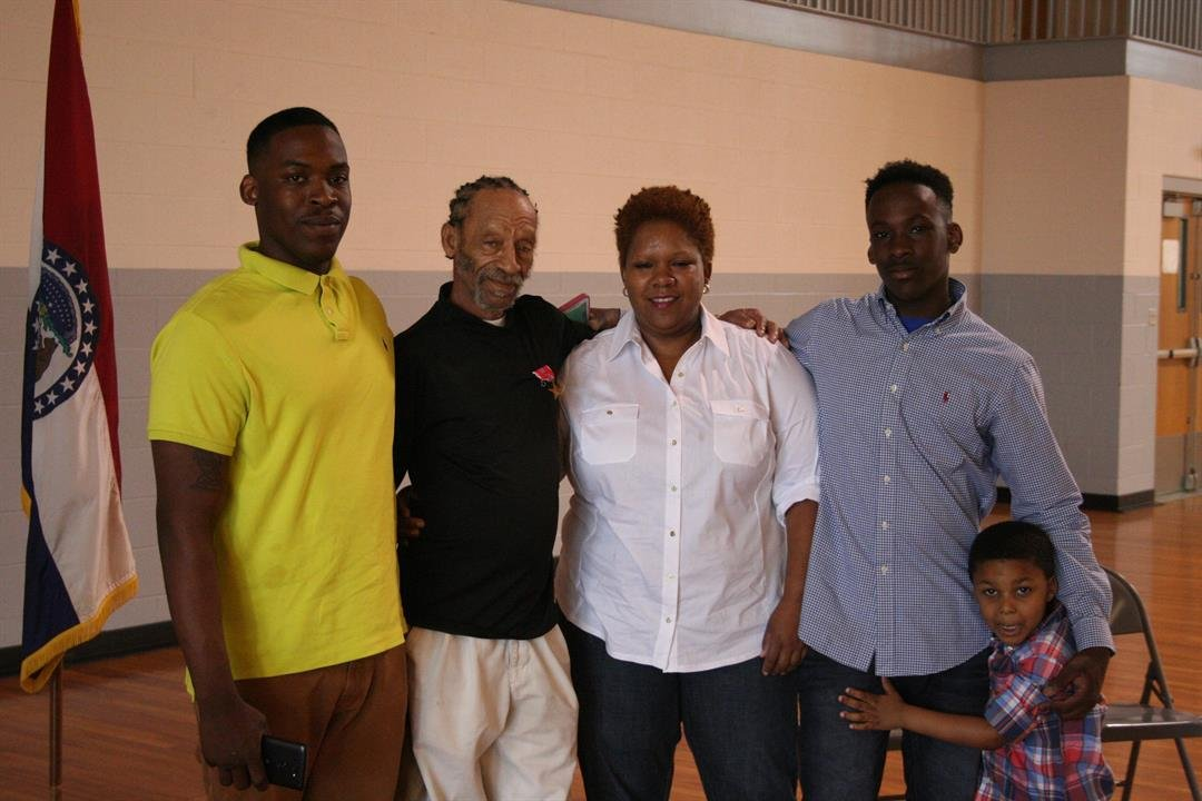 Wright and his daughter, two grandsons and one great grandson.
