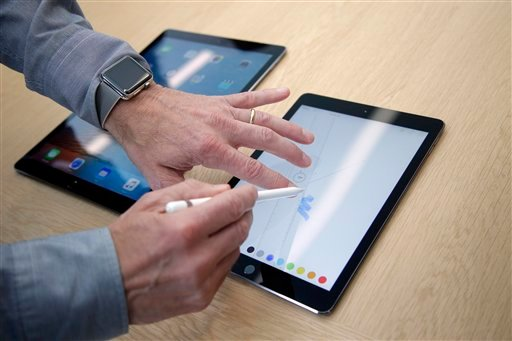iPad Pro now in two sizes. (AP Photo)