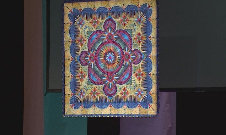 """This quilt, """"Arándano,"""" was named Best of Show for the 2016 AQS QuiltWeek in Paducah."""