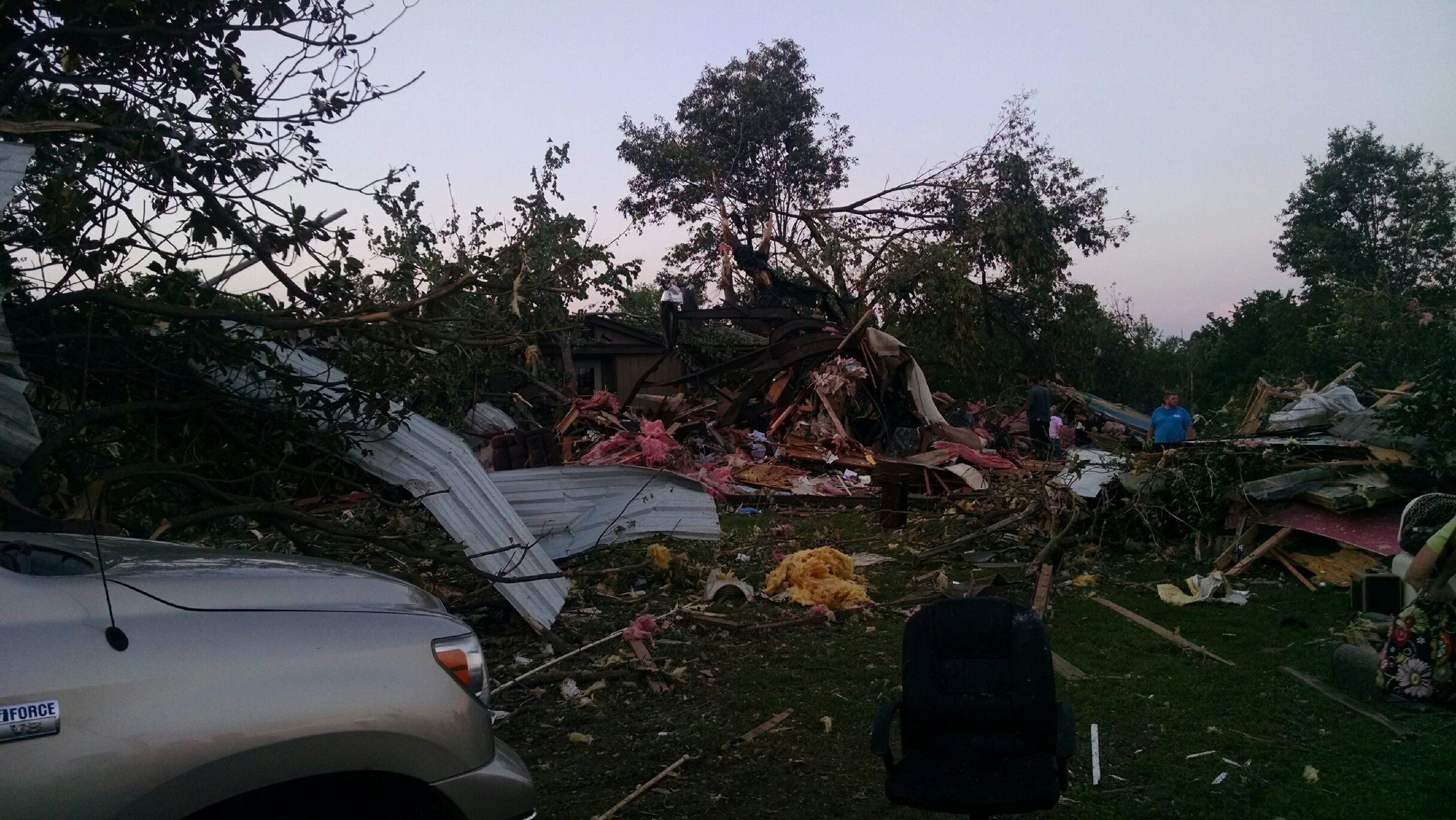 The storm and tornado that hit Graves County Tuesday, May 10, left destroyed property in its wake.
