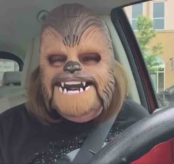 Woman Laughing in Chewbacca Mask Breaks Facebook Record