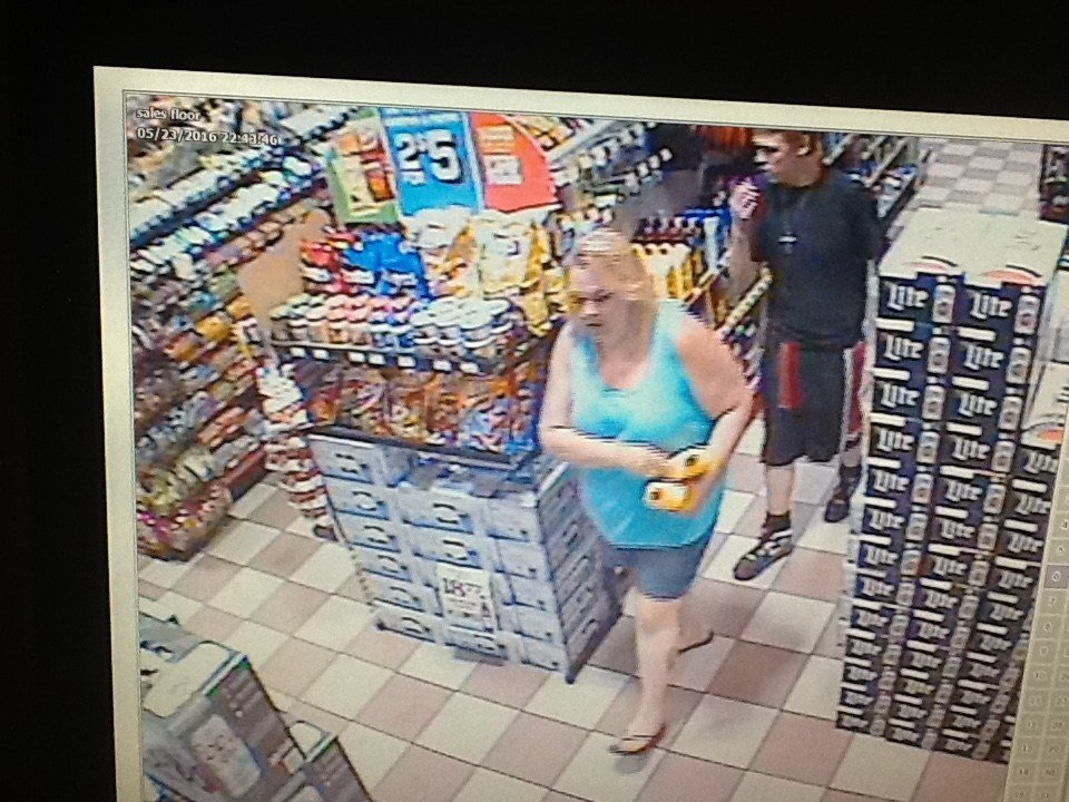 This woman and male believed to be in his teens or 20s are accused of using a forged check at the Alben Barkley Five Star in McCracken County.