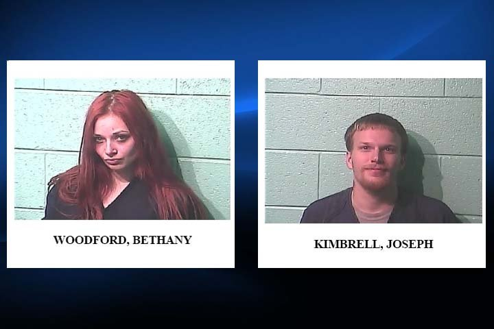 Bethany Woodford Tubbs and Joseph Kimbrell were arrested in Marshall County Tuesday, June 21, 2016, on robbery charges out of Paducah.