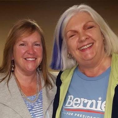From left, Jane Sanders and Janice Thomasson