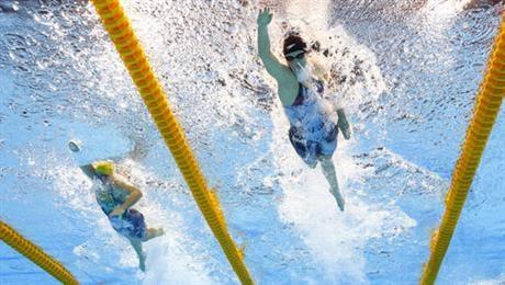 When will Katie Ledecky swim again at Olympics?