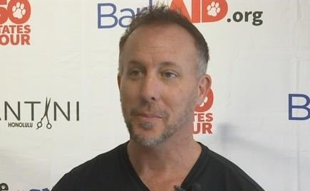 Stylist Patrick Lomantini was in Metropolis on Monday, cutting hair for a good cause.