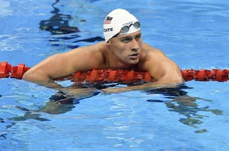 In this Aug. 9, 2016, file photo, United States' Ryan Lochte checks his time after a men' 4x200-meter freestyle relay heat during the swimming competitions at the 2016 Summer Olympics in Rio de Janeiro, Brazil. (AP photo)