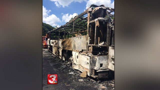 Bus carrying Marines to Nashville catches fire; no one hurt