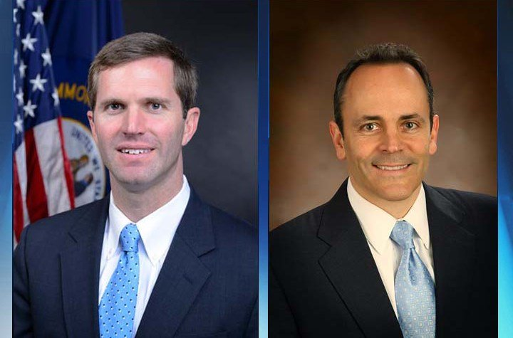 Attorney General Andy Beshear and Gov. Matt Bevin