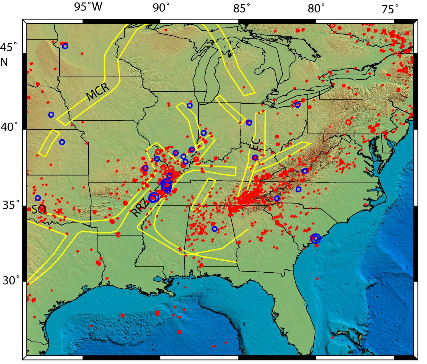New Madrid Fault Zone from Northwestern University