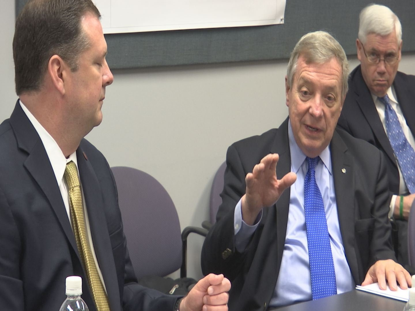 U.S. Sen. Dick Durbin of Illinois met with transportation leaders on potential EAS cuts on Friday, April 21, 2017.