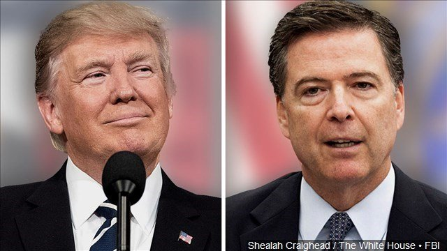 President Trump contradicts initial White House statements about Comey firing