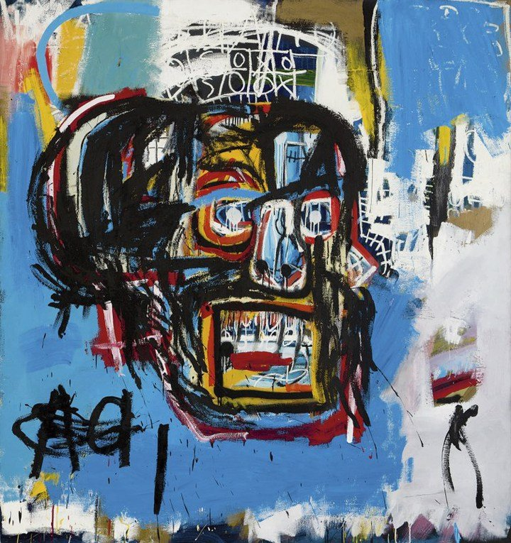 """This undated photo provided by Sotheby's shows Jean-Michel Basquiat's Masterpiece """"Untitled."""" Sotheby's said the sale of the artwork Thursday, May 18, 2017, in Manhattan was an auction record for the artist. It also set a record price for an American arti"""