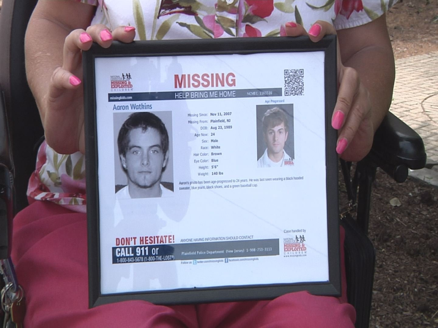 Aaron Watkins was reported missing back in 2007.