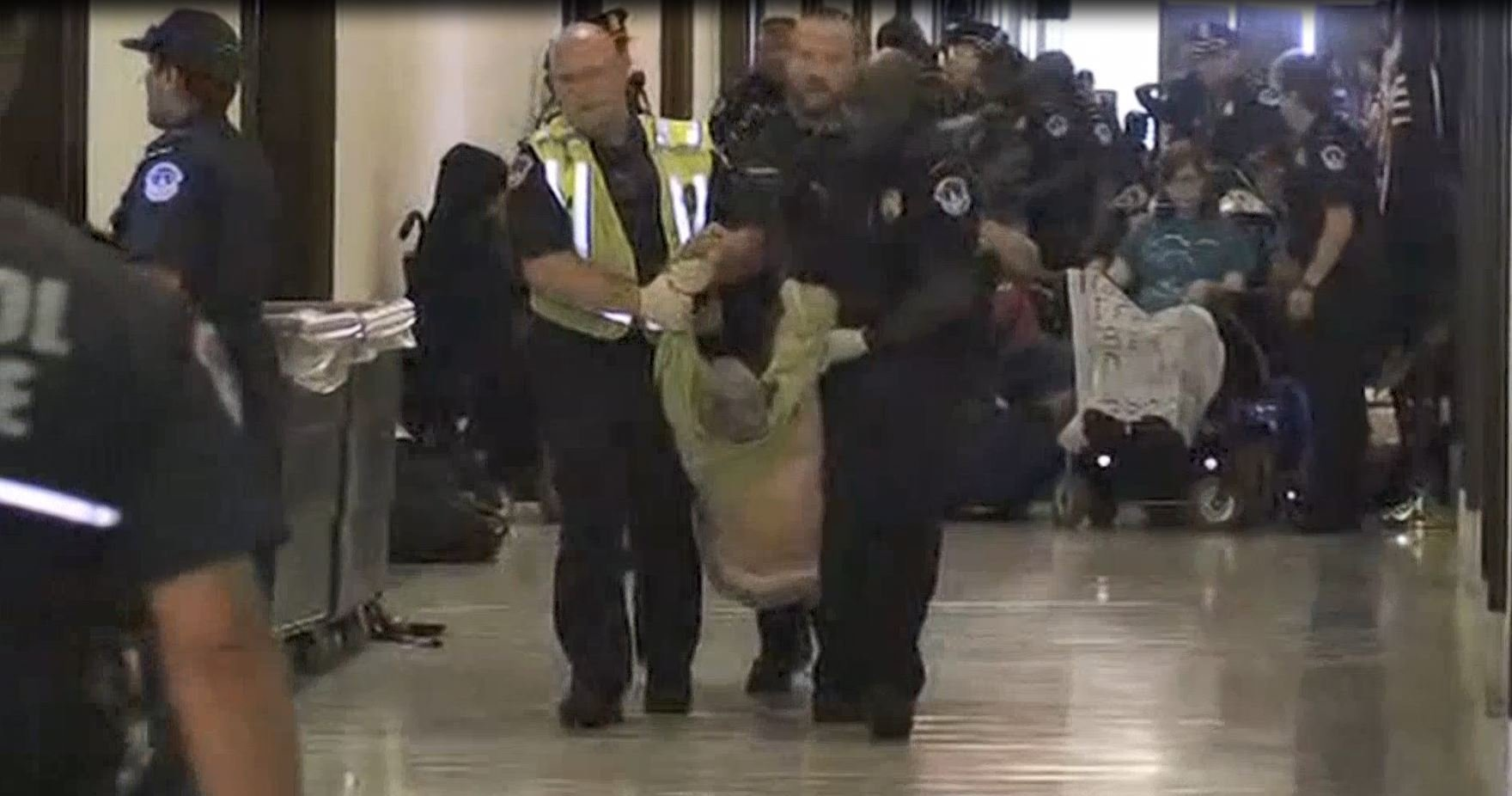 Protesters Arrested Following Republican Health Care Bill