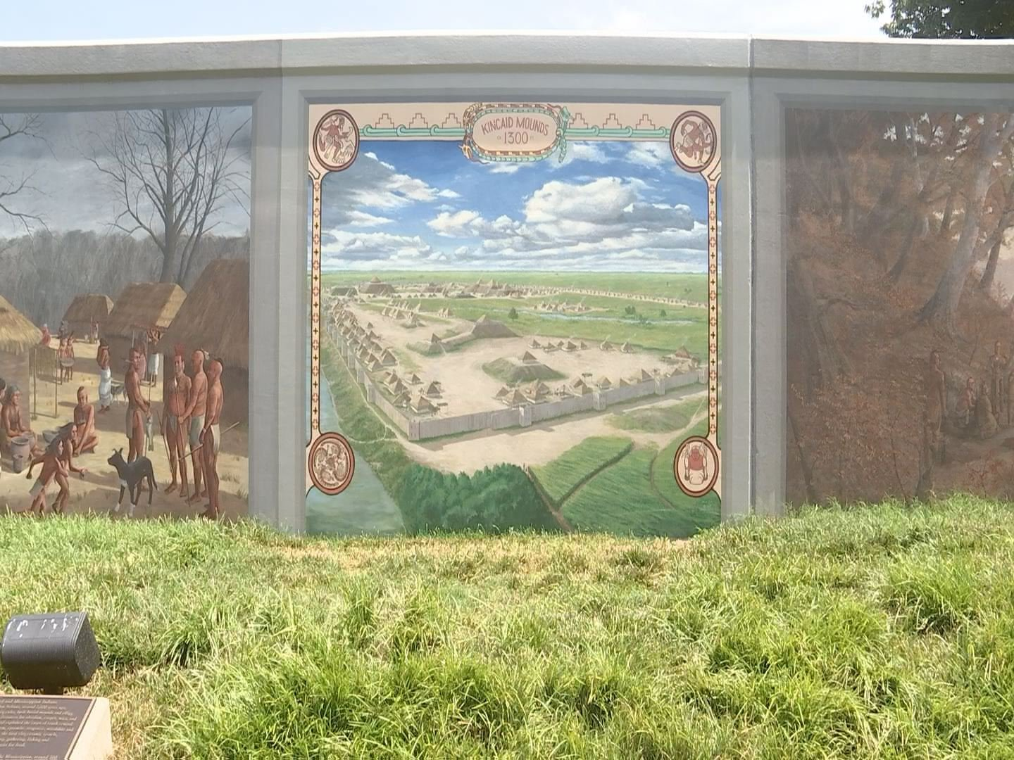 Check out the Kincaid Mounds mural! It has changed in the past week.