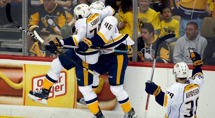 Predators sign F Aberg to two-year deal