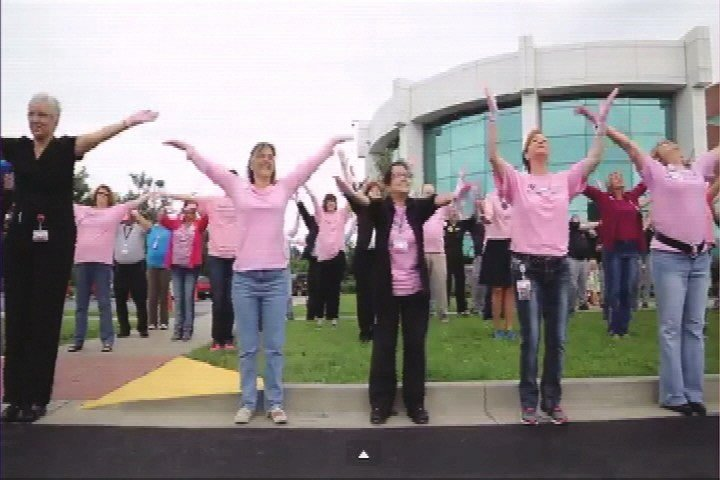 Hospital employees and area first responders participated in the 2014 Pink Glove Dance at Baptist Health Paducah. This year, the public is invited to participate on June 26 in the breast cancer awareness video.