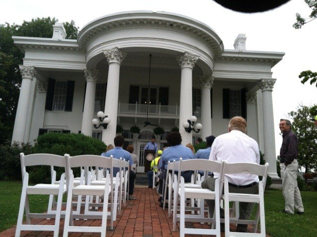 Folks with KYTC celebrated state recognition of Whitehaven Welcome Center Tuesday.