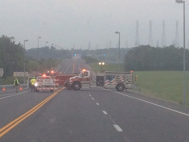 Crews block U.S. 62 near the Marshall-Livingston County line after a deadly wreck Tuesday.