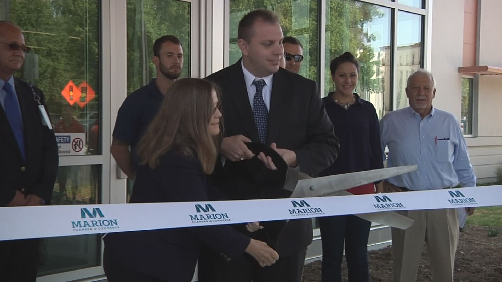 The ribbon is cut on the Marion VA's new $8.3 million behavioral health center.
