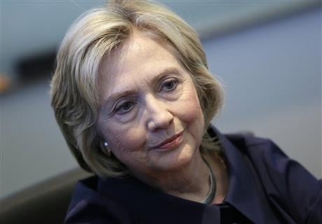 In this Sept. 7, 2015, photo, Democratic presidential candidate Hillary Rodham Clinton speaks during an interview with The Associated Press in Cedar Rapids, Iowa. (AP photo)