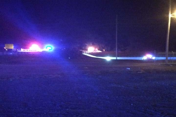 View of the scene at the Brookport Bridge Thursday night from North 8th Street in Paducah.