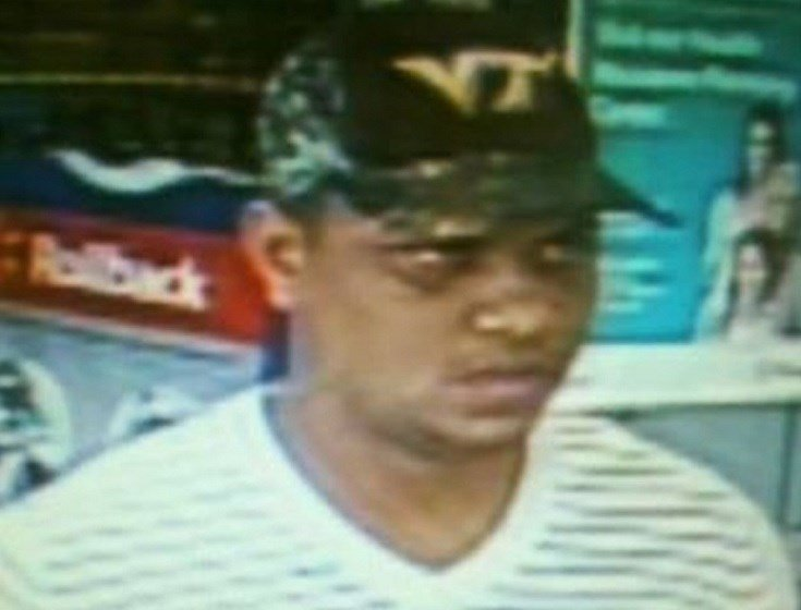 Law enforcement officers say this is the first suspect in an identity theft case, captured on surveillance camera at the Anna Walmart.