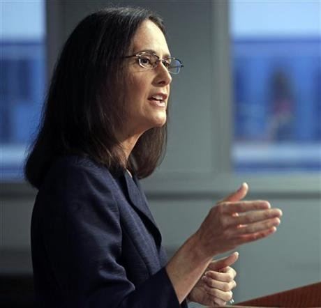 In this Aug. 21, 2014, file photo, Illinois Attorney General Lisa Madigan speaks at a news conference, in Chicago. (AP photo)