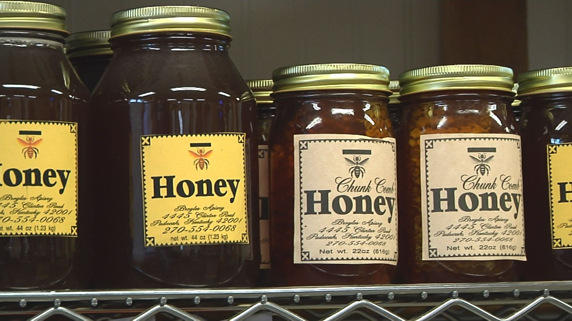 Pure honey from bees