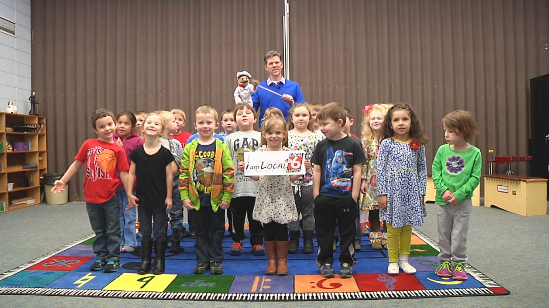 Mr. Todd Terry and his Kindergarten music class