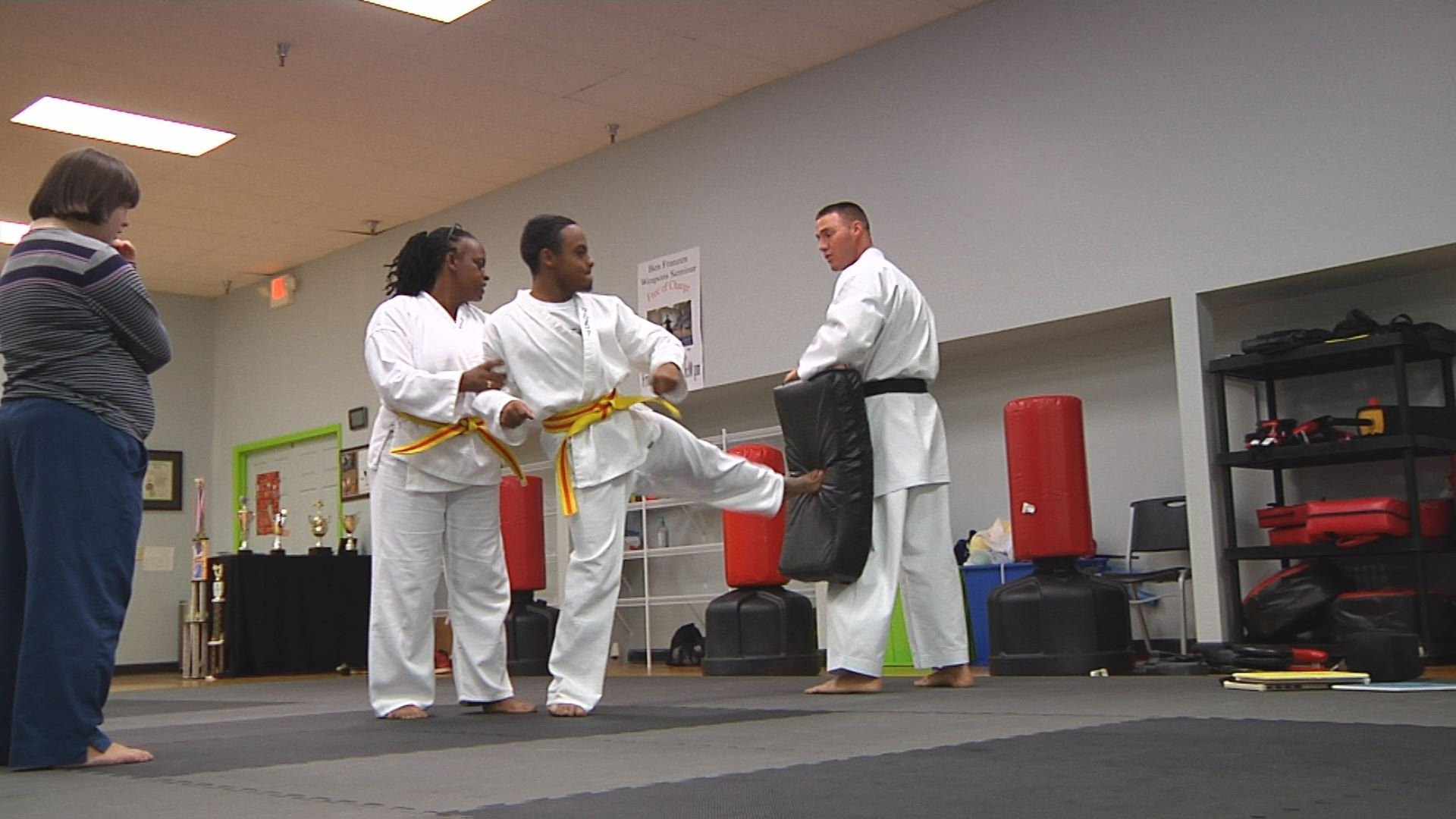 Smith teaches karate to kids and adults with autism.