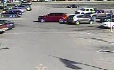 Police in Anna, Illinois say a man suspected of stealing multiple big ticket items from Walmart may have left in the maroon car pictured above.