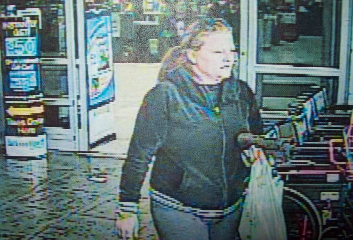 Cape Girardeau County sheriff's deputies say this woman is suspected of using a stolen credit card to buy items from the Walmart in Jackson, Missouri.