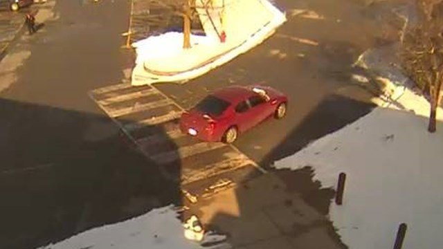 This maroon car was involved in a hit and run outside Illinois Star Centre Mall in Marion, IL on Januray 20, 2016.