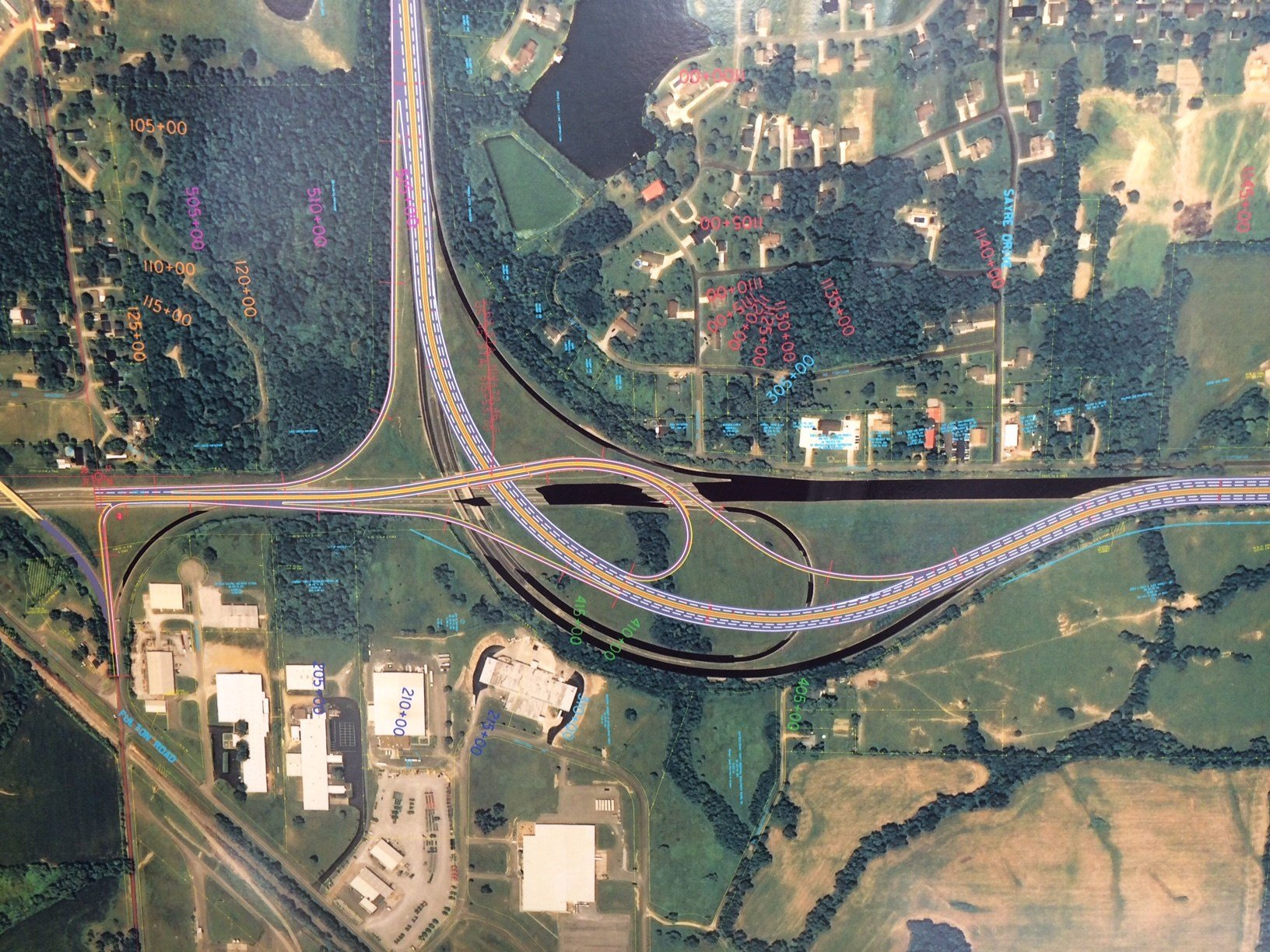 This graphic shows KYTC's I-69/Purchase Parkway, US 45 interchange update.