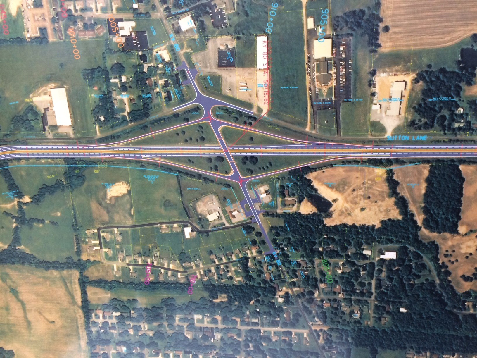 This graphic shows KYTC's I-69/Purchase Parkway KY 80 interchange update.