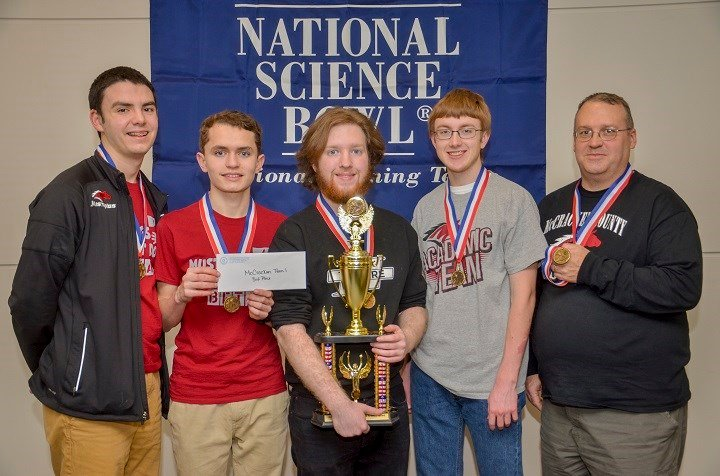 Third Place McCracken County High School, from left:  David Dodd, Ethan Brown, Zack Stone, Zack Althouse, Charles Fountain, and Barton Christmas (not shown).
