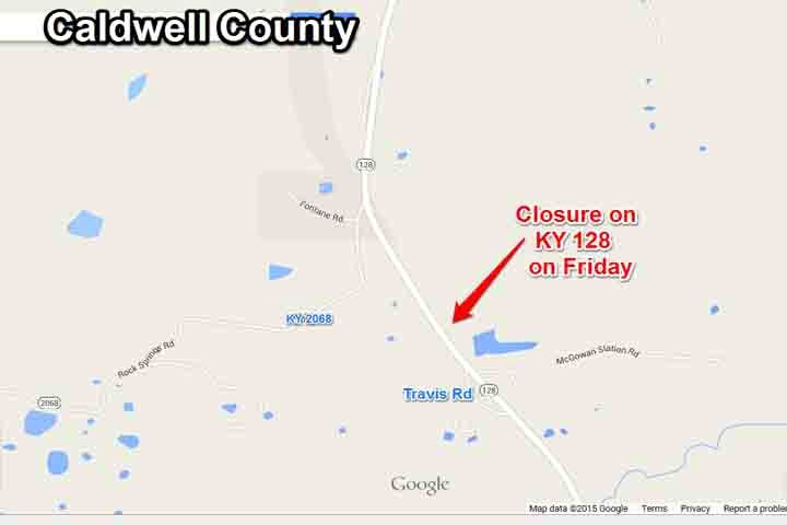 Portion of KY 128 in Caldwell County closed Friday - WPSD